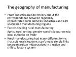 the geography of manufacturing