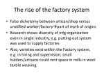 the rise of the factory system25