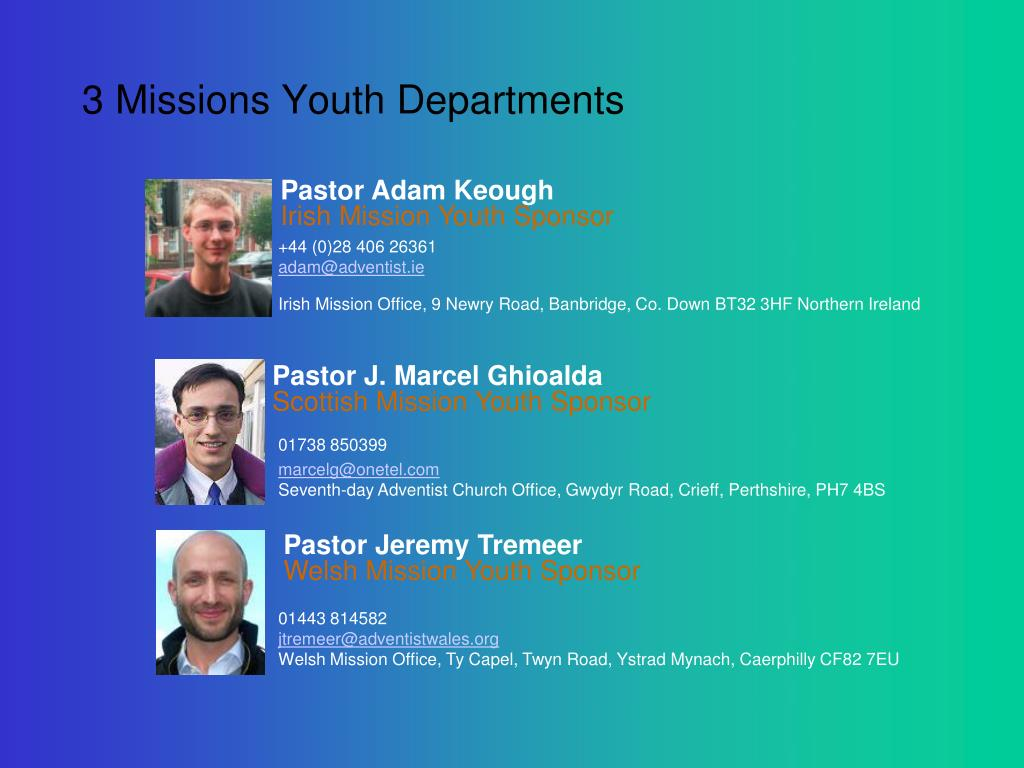 3 Missions Youth Departments