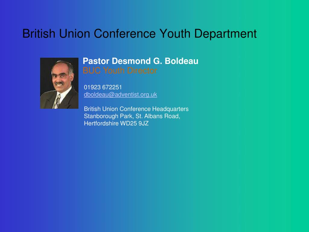 British Union Conference Youth Department