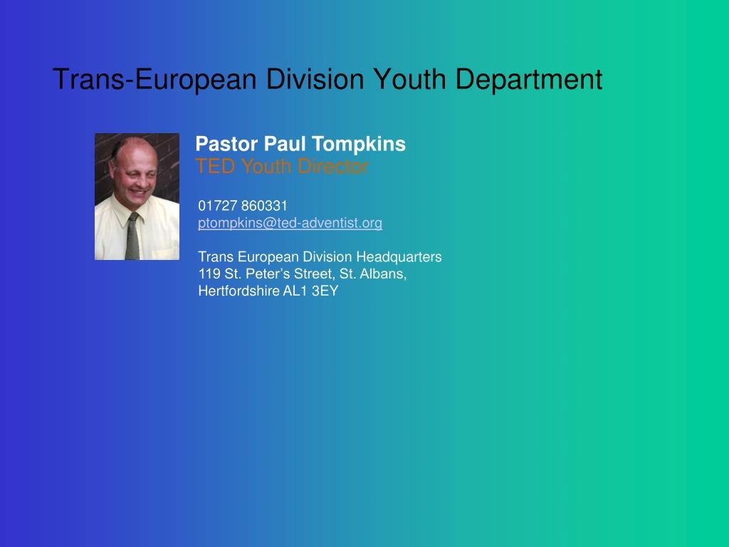 Trans-European Division Youth Department