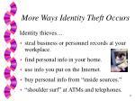 more ways identity theft occurs