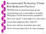 recommended technology fraud risk reduction practices