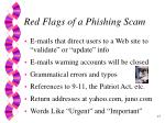 red flags of a phishing scam