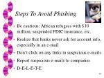 steps to avoid phishing