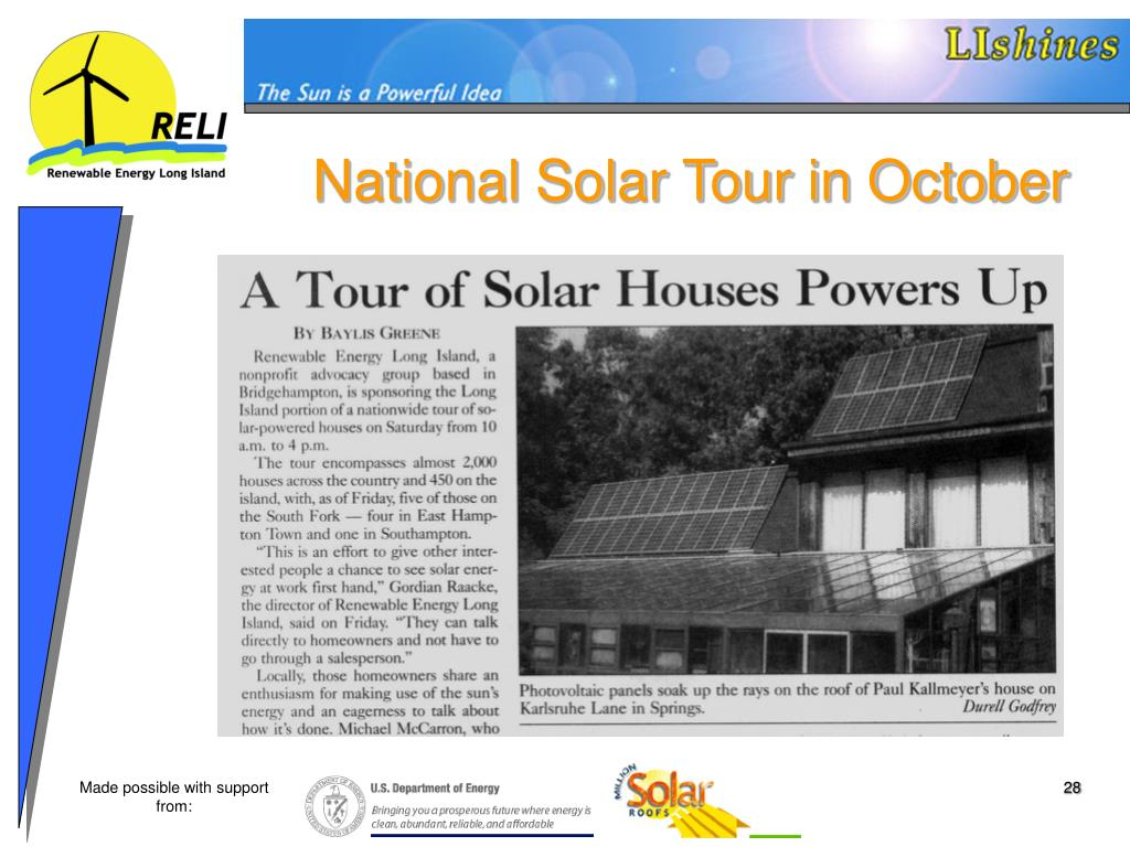 National Solar Tour in October