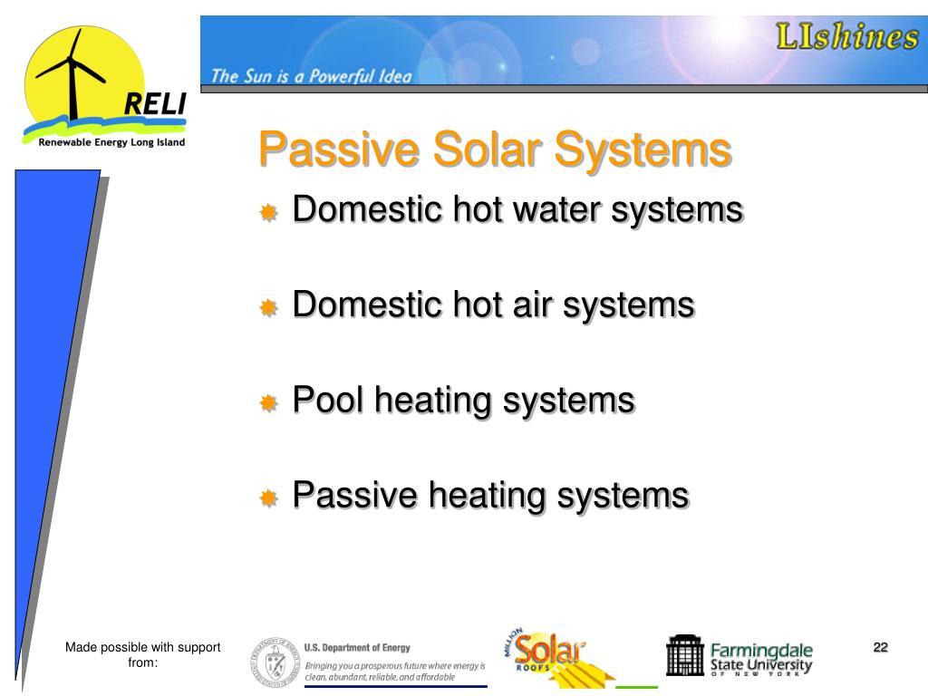 Passive Solar Systems