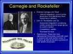 carnegie and rockefeller