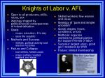 knights of labor v afl