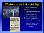 workers in the industrial age