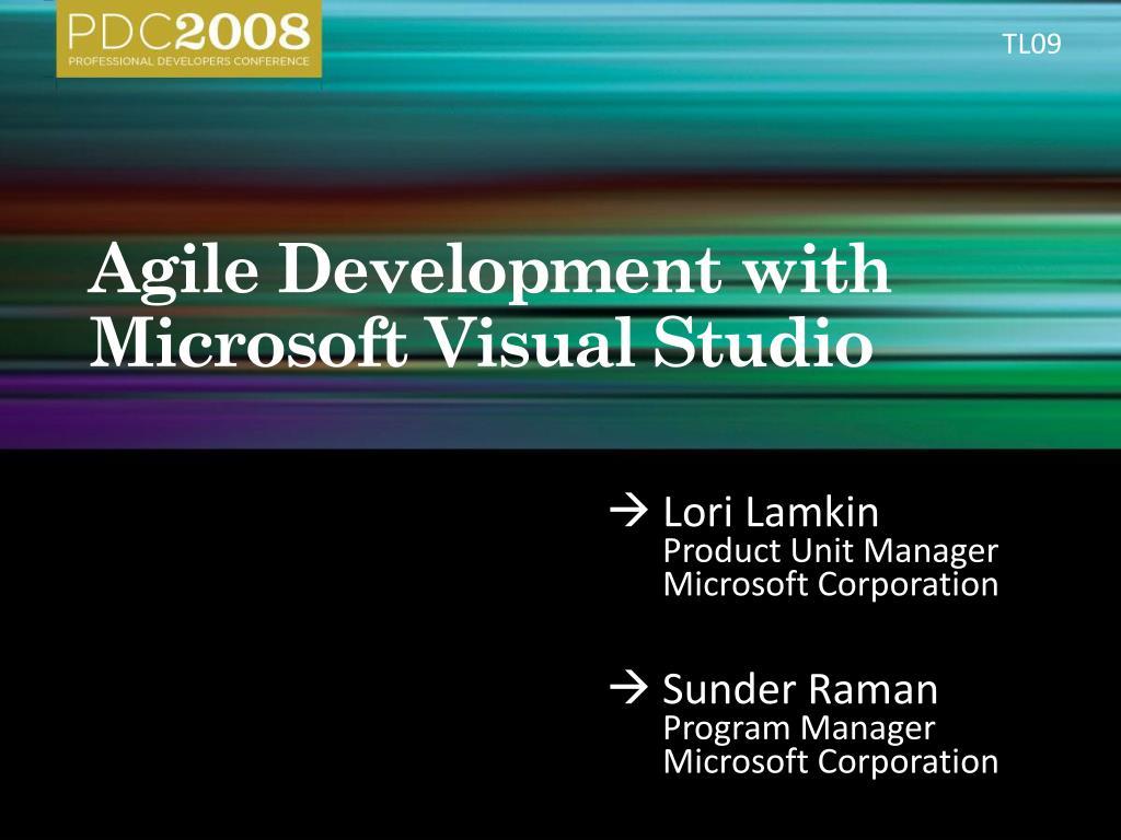 agile development with microsoft visual studio