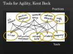tools for agility kent beck20