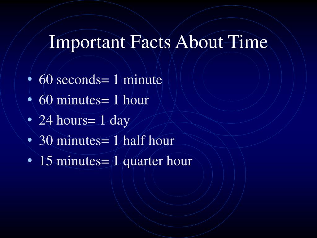 Important Facts About Time
