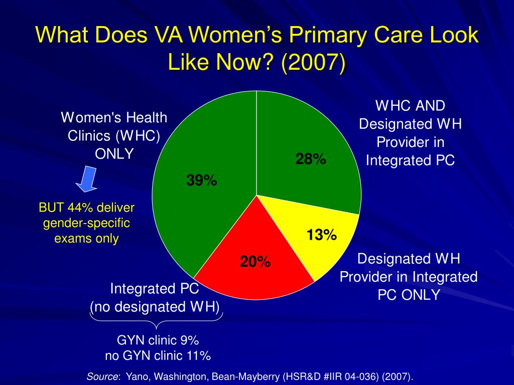 What Does VA Women's Primary Care Look Like Now? (2007)