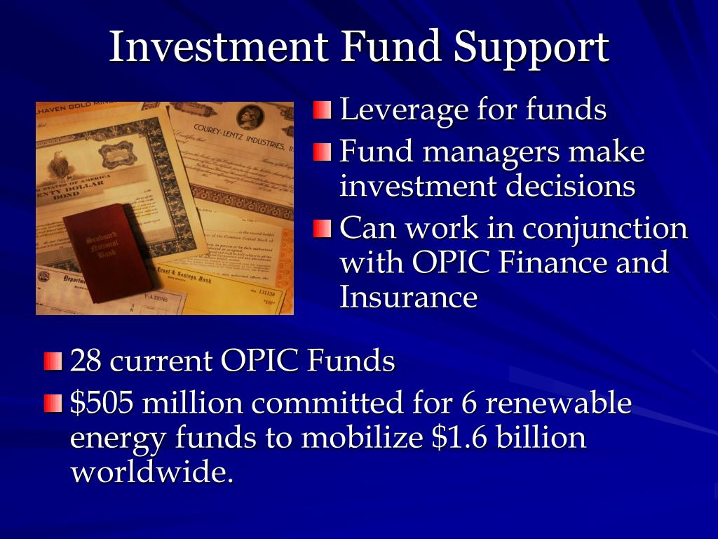 Investment Fund Support