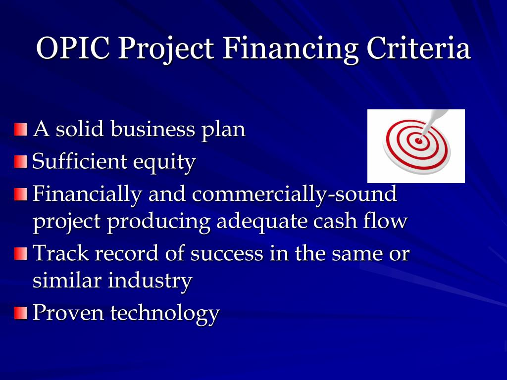OPIC Project Financing Criteria
