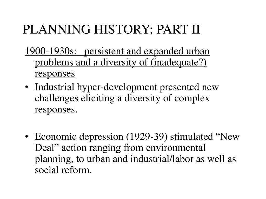 planning history part ii l.