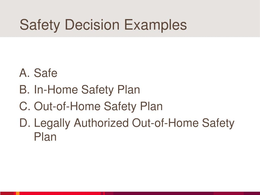 Safety Decision Examples