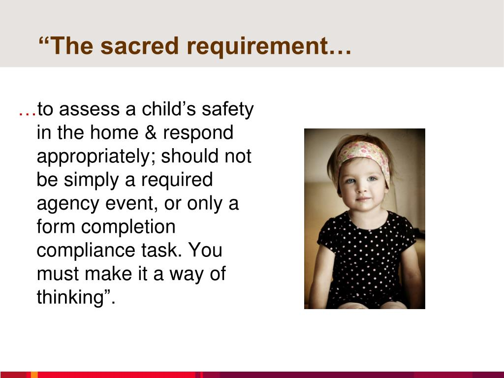 """The sacred requirement…"