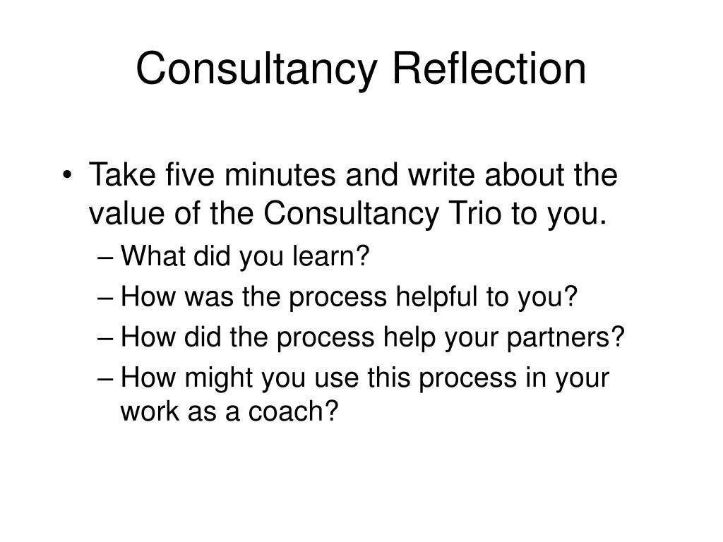 Consultancy Reflection