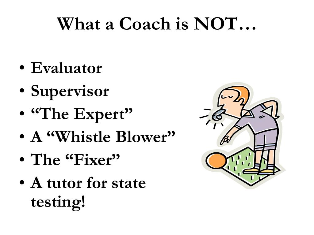 What a Coach is NOT…