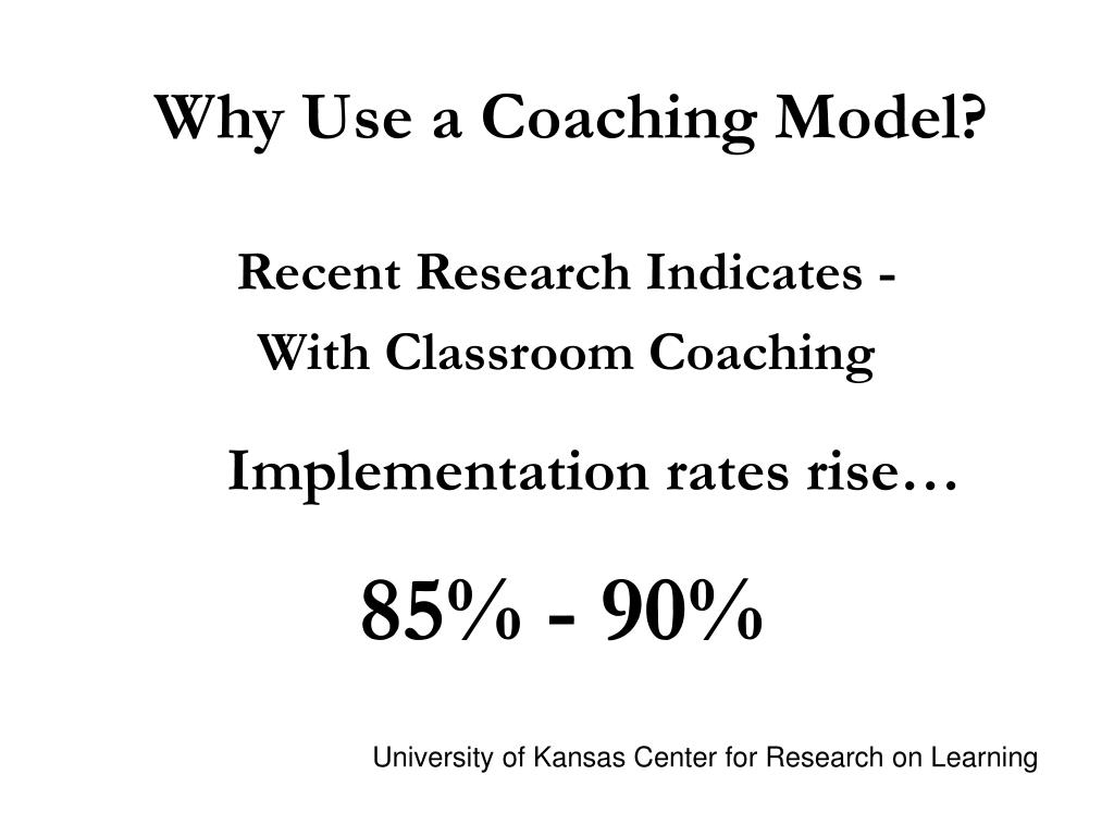 Why Use a Coaching Model?