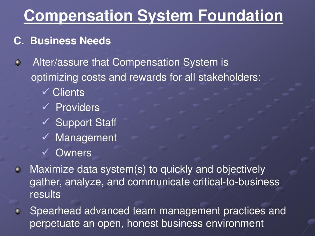 Compensation System Foundation