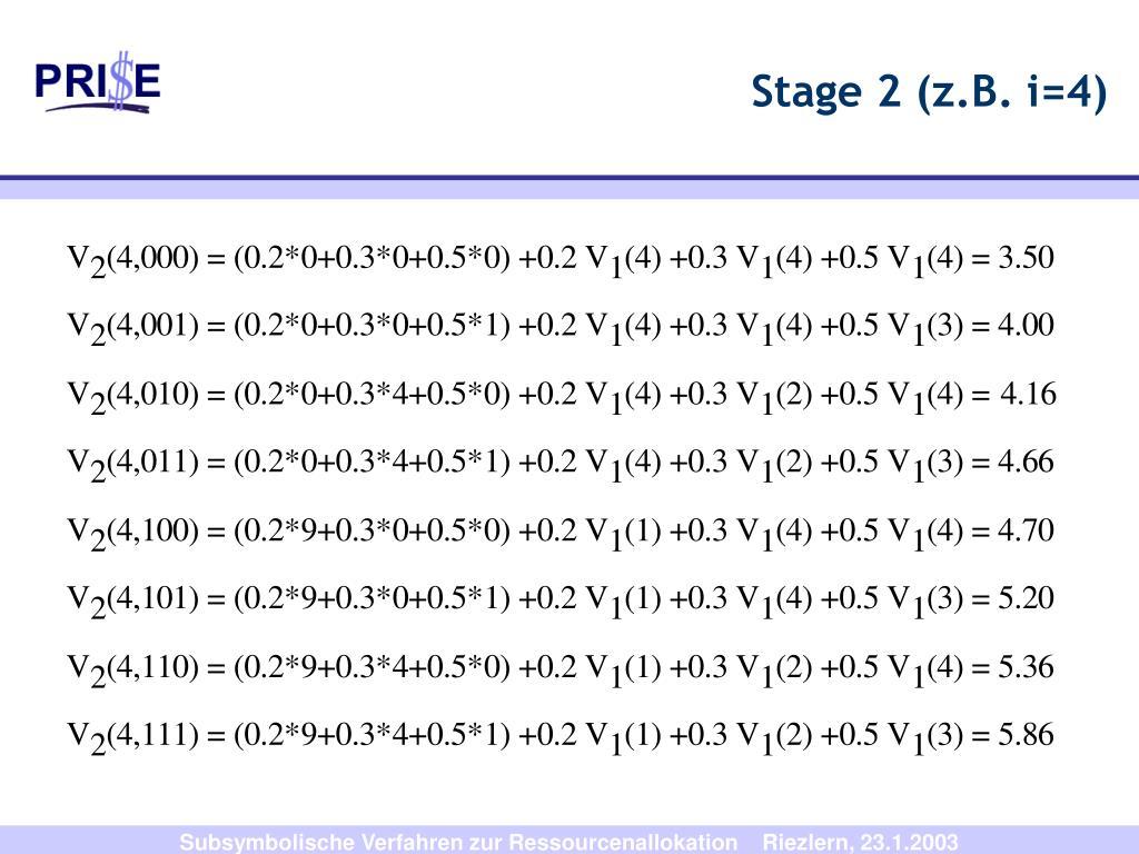 Stage 2 (z.B. i=4)