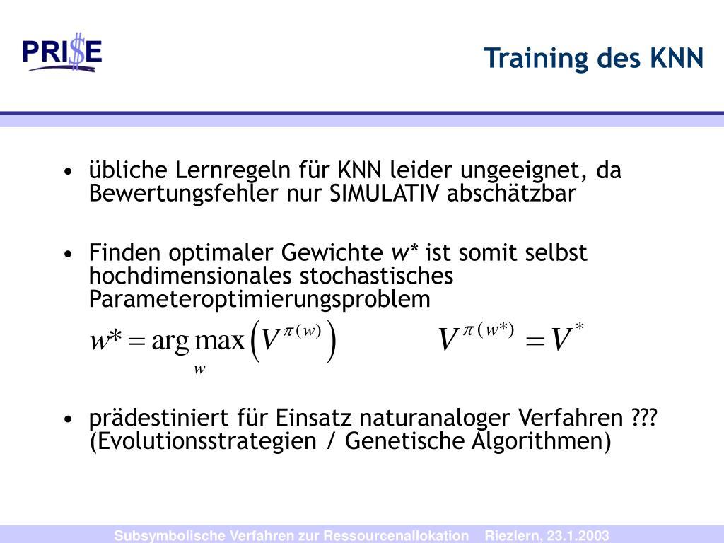 Training des KNN