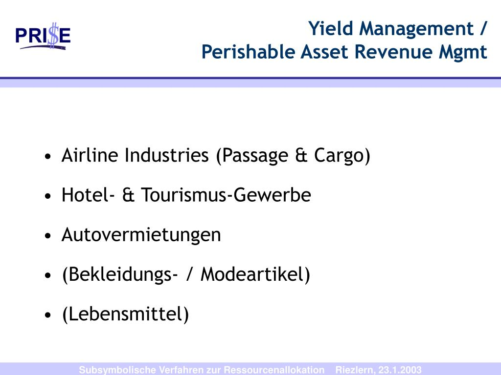 Yield Management /