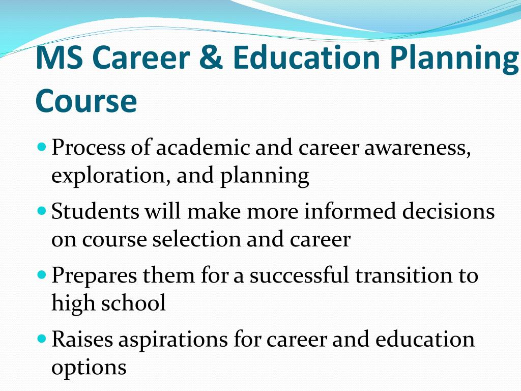MS Career & Education Planning Course