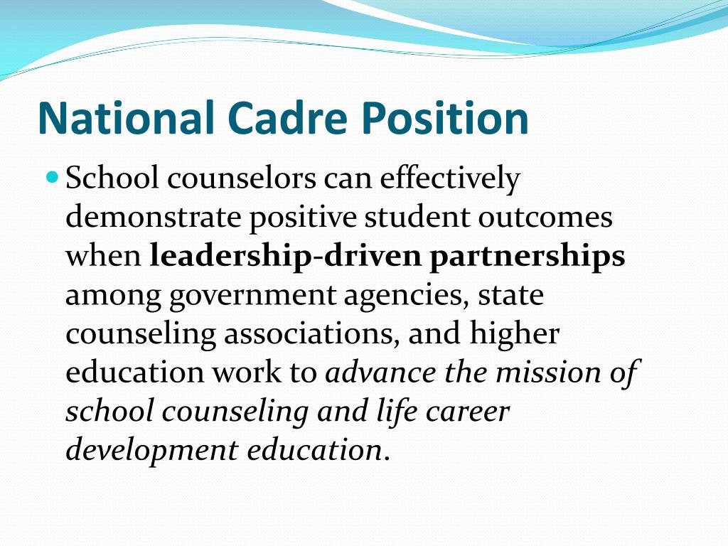 National Cadre Position
