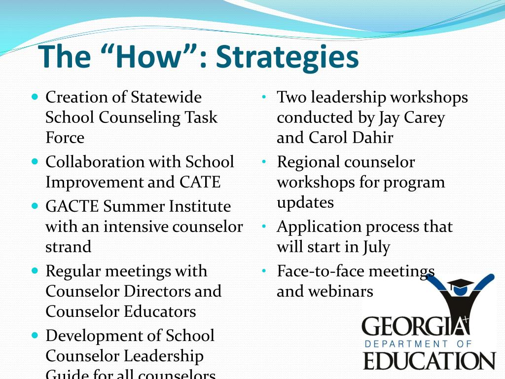 Creation of Statewide School Counseling Task Force
