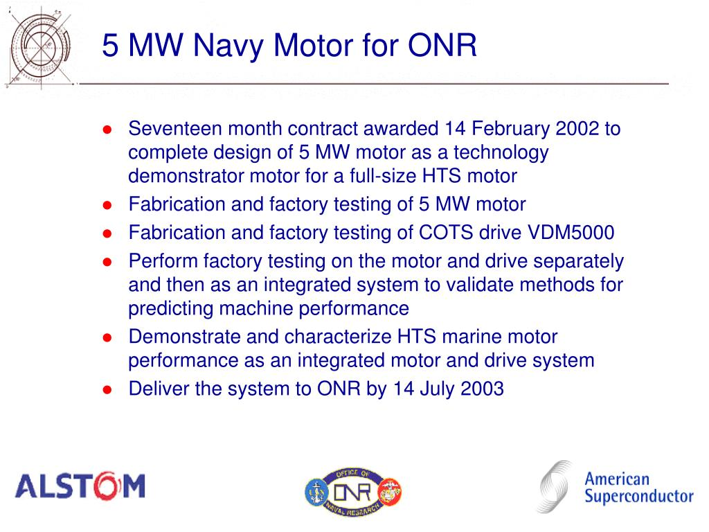 5 MW Navy Motor for ONR