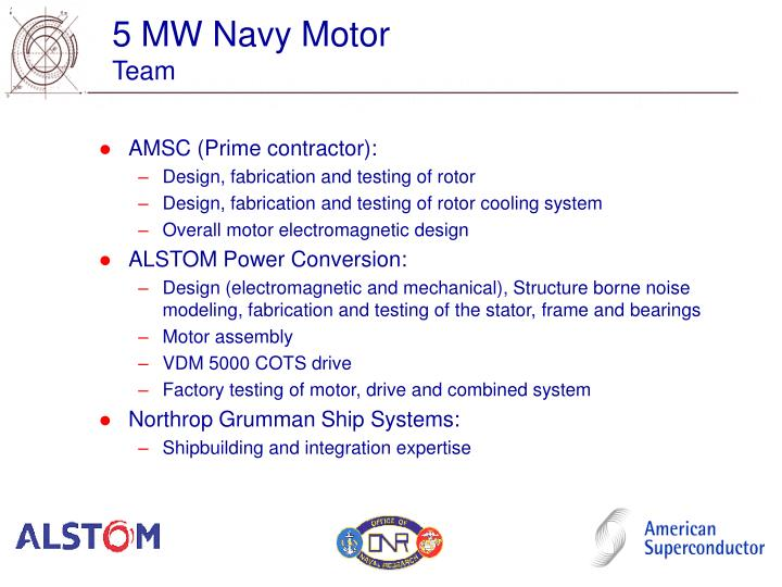 5 mw navy motor team