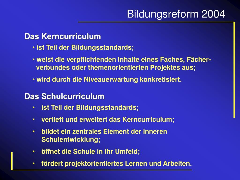 Das Kerncurriculum