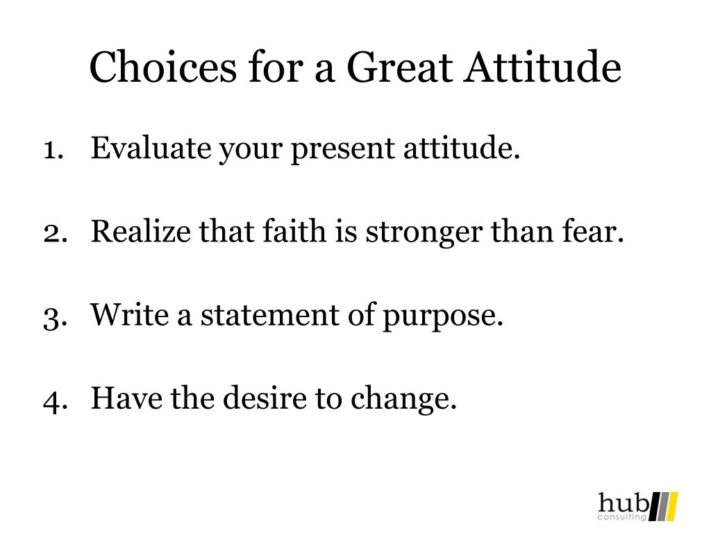 Choices for a Great Attitude