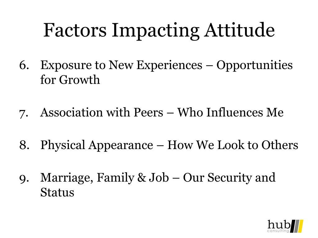 Factors Impacting Attitude