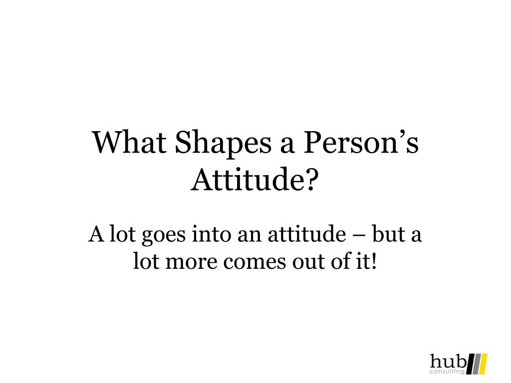 What Shapes a Person's Attitude?