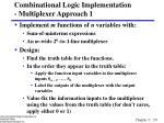 combinational logic implementation multiplexer approach 1