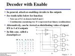 decoder with enable