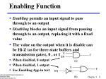 enabling function