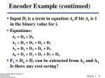 encoder example continued