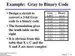 example gray to binary code34