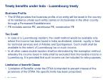 treaty benefits under indo luxembourg treaty