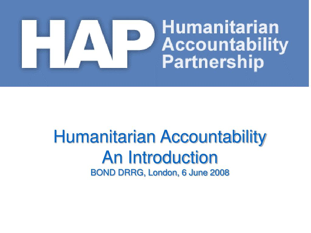 Humanitarian Accountability