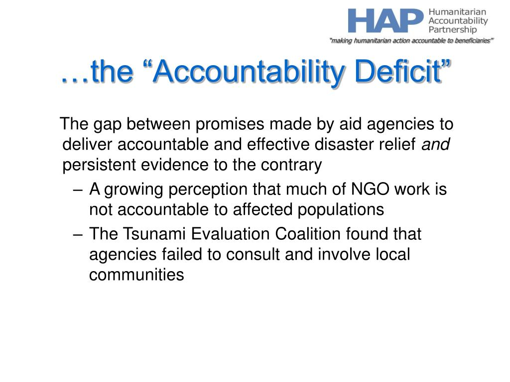 """…the """"Accountability Deficit"""""""