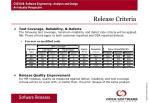 release criteria
