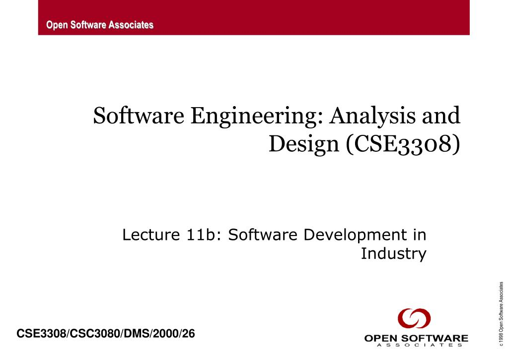 software engineering analysis and design cse3308 l.