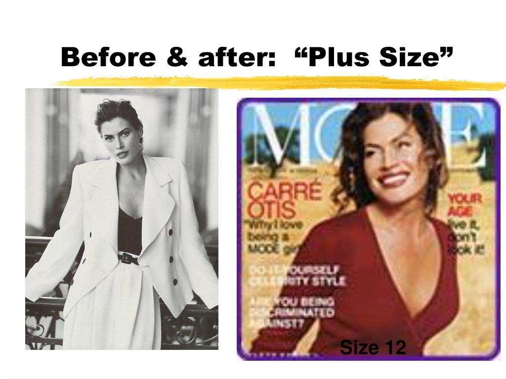 """Before & after:  """"Plus Size"""""""